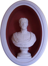 Bust of Tasso in reception hall