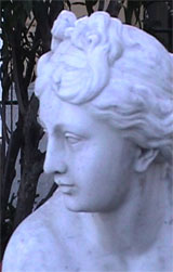 Detail of statue on the Bosquet terrace