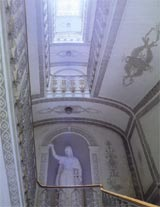 Main staircase with statue of Victory sculpted in 19th C
