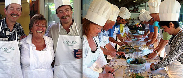 Villa Ida cooking lessons in Sorrento