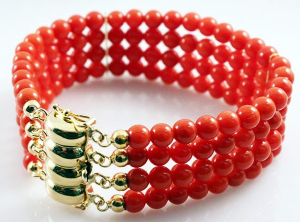 Coral Bracelet by Bimonte in Sorrento