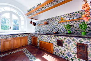 Kitchen at Villa Capo Santa Fortunata