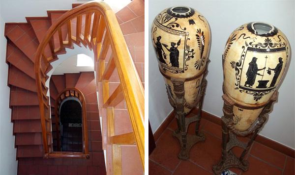 Stairs at Villa Capo Santa Fortunata