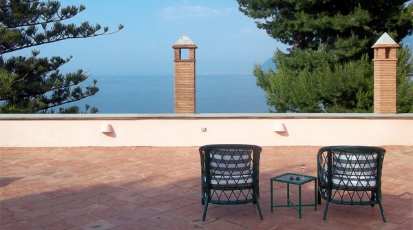 Terrace in the Villa Capo Santa Fortunata