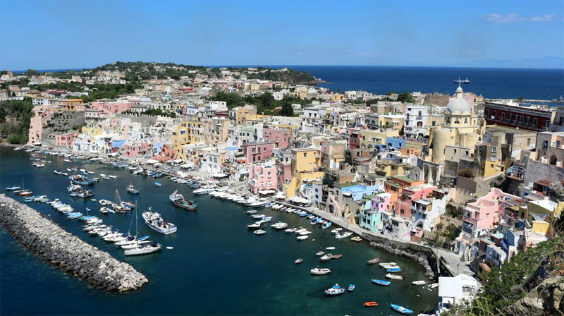 The island of Procida, Naples