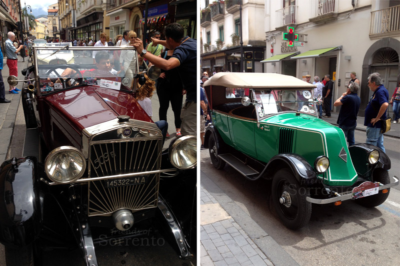 Classic cars in Sorrento