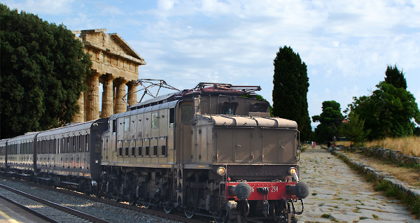 Vintage train to Pompeii and Paestunm