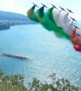 The Frecce Tricolori Air Display in Sorrento