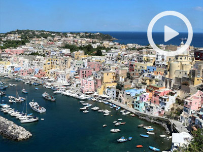 Island of Procida just off Naples