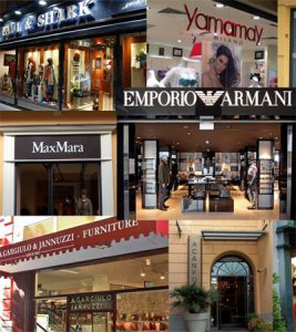 Shops on Corso Italia in Sorreento