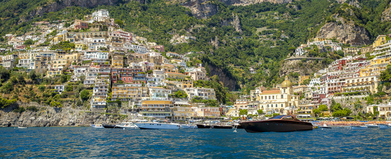 Positano view from the sea